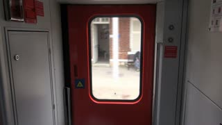 POV Inside Moving Train