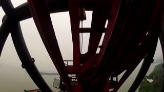 POV of Wild Roller Coaster Ride
