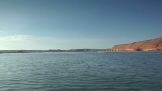 Pov Over Water On Lake Powell Utah