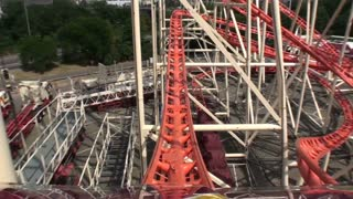POV Red Steel Coaster