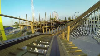 POV Riding Wooden Coaster Backwards 2
