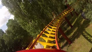 POV Spiraling Through Coaster Tracks