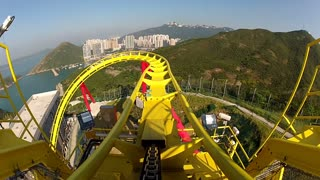 POV Yellow Roller Coaster Beginning