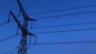 Power Lines with Blue Sky Background 2