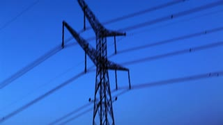 Power Lines with Blue Sky Background 3