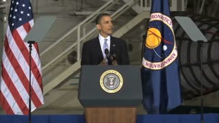 President Obama Talking About Space Program Challenges