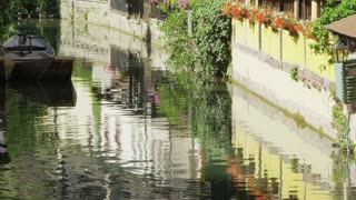 Pretty Reflections in Colmar, France Canal
