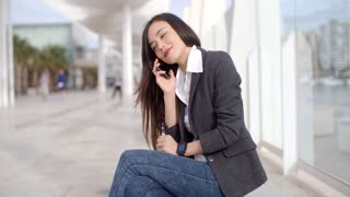 Pretty woman talking on a mobile