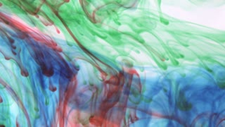 Primary Colored Ink in Water