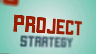 Project business management video tag text animation. Ultra High Definition 4K seamless loop video.
