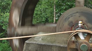 Pulley Driven by Waterwheel