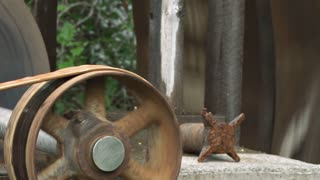 Pulley Driven From Waterwheel