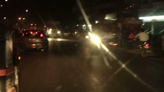 Pune Traffic in India at Night