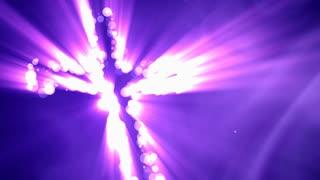 Purple Angled Cross