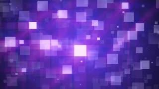 Purple Falling Squares