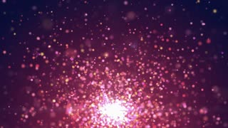 Purple Particle Burst