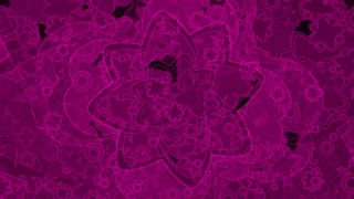 Purple Retro Flower Layers
