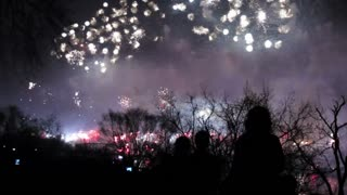 Pyongyang, huge firework display to celebrate the 100th anniversary of the birth of President Kim IL Sung, North Korea, DPRK, Asia