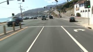 Racing Along Mountainous Road