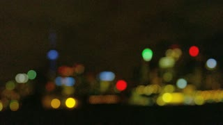 Rack Focus of Toronto City Skyline at Night