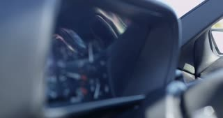 Rack Focus of Wheel to Tachometer in the Interior of Delorean 4K