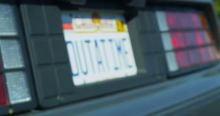 Rack Focus Outatime License Plate 4k