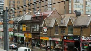 Rain in Toronto Chinatown