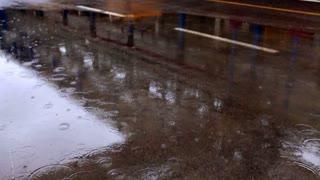Rain Puddle at Ashkelon Seawater Reverse Osmosis Plant 2