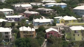 Rainbow Colored Houses in Bermuda