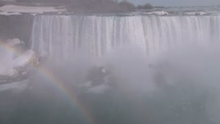 Rainbow in Corner on Niagara Falls