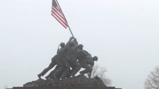 Raising Flag At Iwo Jima