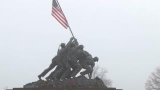 Raising Flag At Iwo Jima