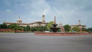 Raj Path leading to the Parliament Building, New Delhi, Delhi, India, Asia - Time lapse