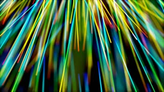 rays of rainbow color motion background
