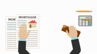 Real estate mortgage approved loan document as concept. 4K UHD video animation seamless loop.
