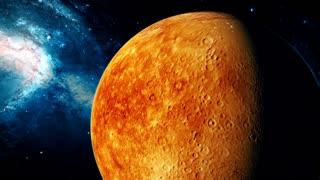 Realistic beautiful planet Mercury from deep space