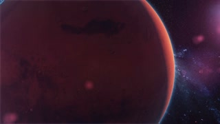 Realistic Planet Mars from space