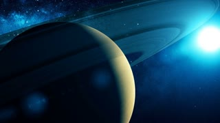Realistic Planet Saturn from space