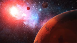 Red Alien Planet in Outer Space