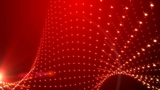 Red Background Light Beads