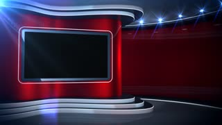 Red Background News Set