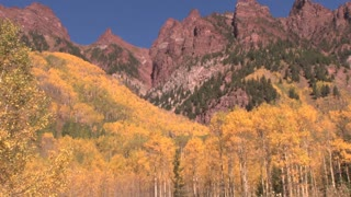 Red Cliffs and Autumn Trees 2