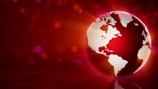 Red Globe and Background