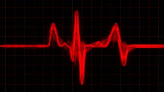Red Grunge Heart Monitor HD