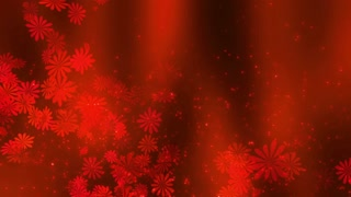 Red Love abstract flower Background 01