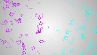 Red Musical Note Particles Loop Animation - 4K Resolution Ultra HD UHD