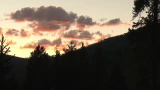 Red Sky and Colorado Mountain Silhouettes 3