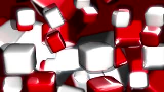 Red White Cubes Bouncing