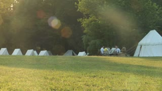 Reenactment Camp Pan 4