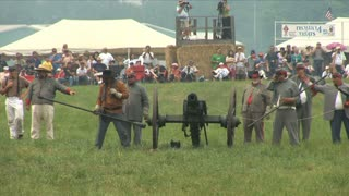 Reenactment Cannon Fires At Camera